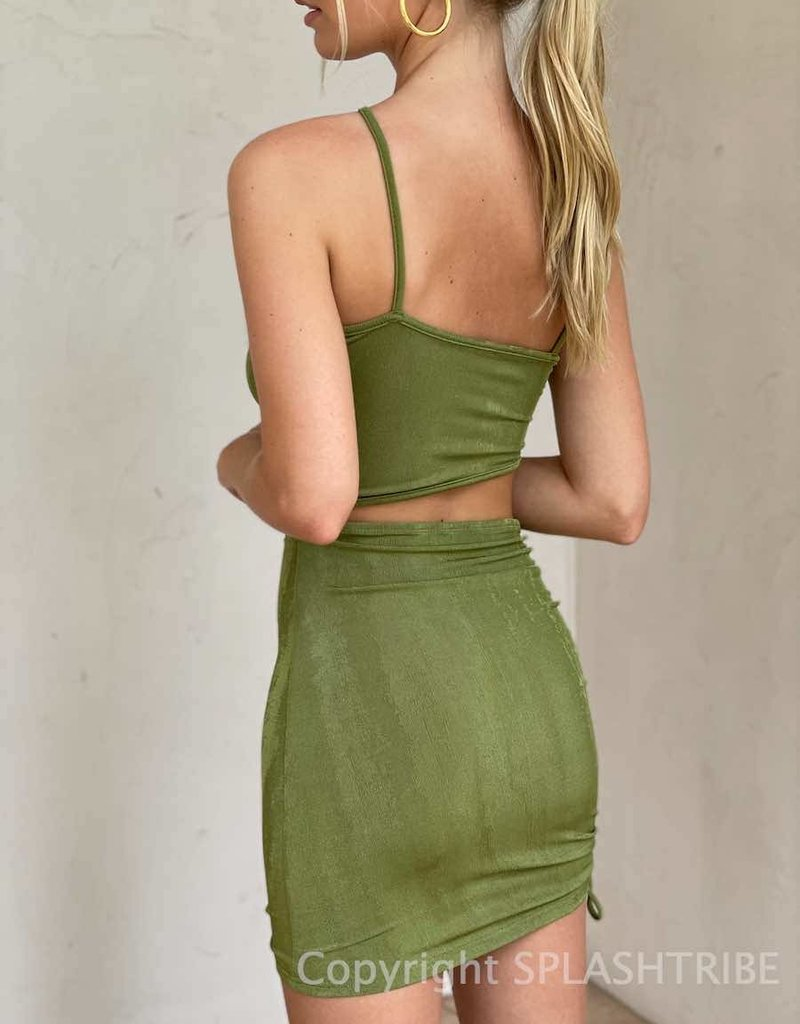 Turn Up Shimmer Cut Out Mini Dress