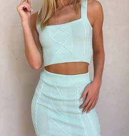 Boca Knit Mini Skirt Set