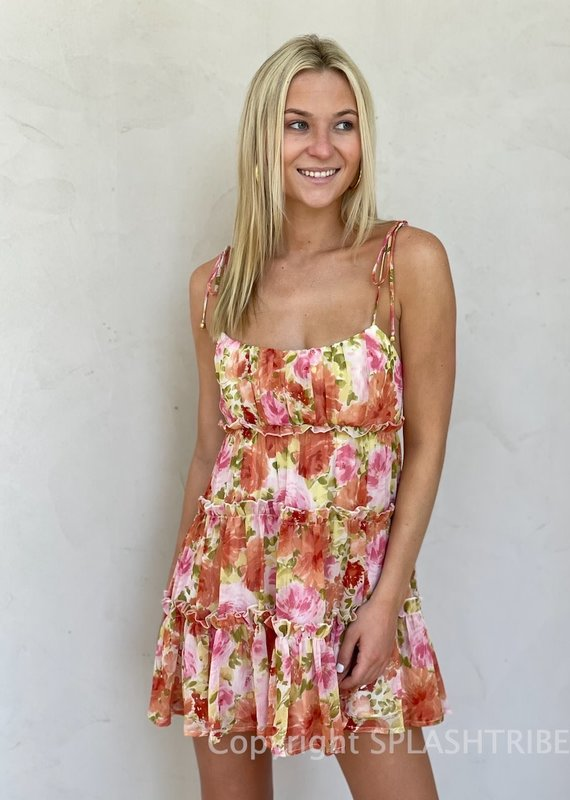 Lydia Tiered Floral Mini Dress