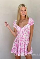 Hana Floral Smocked Waist Mini Dress