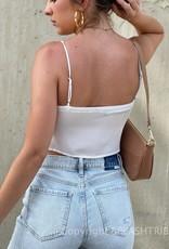 Lace Trim Double Tie Front Cami Top