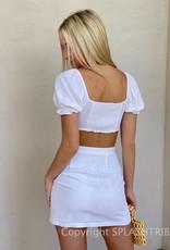 Keyhole Crop Top and Mini Skirt Set