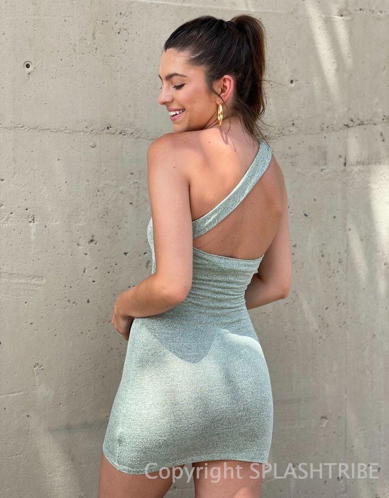 Peyton Knit One Shoulder Mini Dress