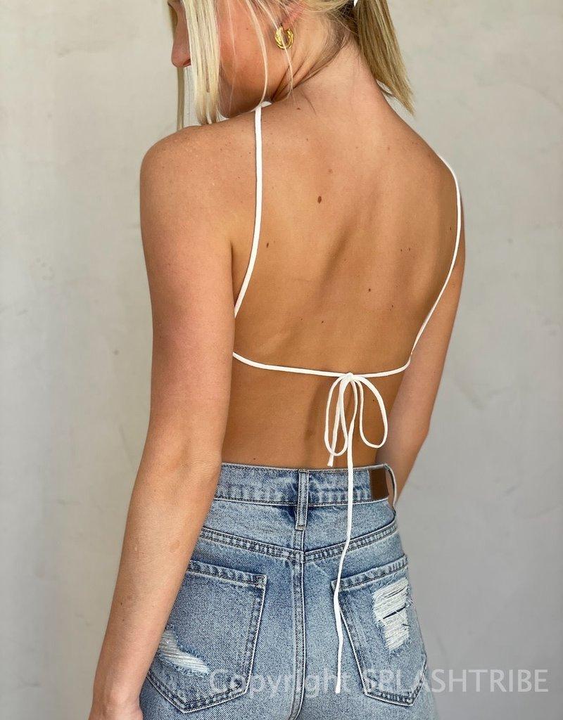 Grayson Textured Knit Halter Top