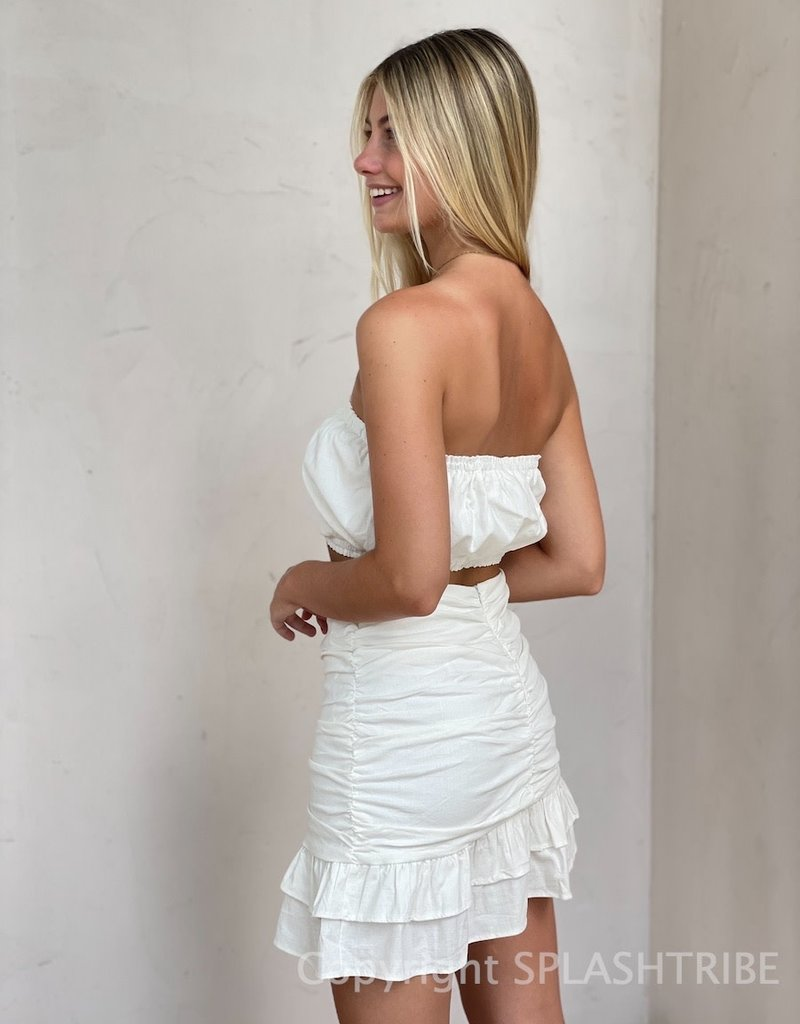 Avery Tube Top Mini Skirt Set