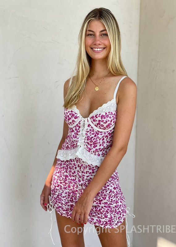 Alexis Floral Corset Mini Dress