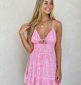Jenna Star Smocked Waist Mini Dress