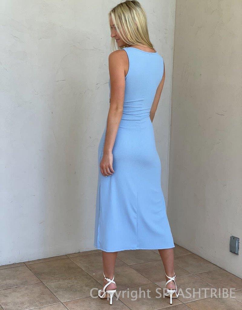 Erika Cut Out Ribbed Midi Dress