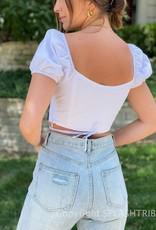 Mimi Puff Sleeve Crop Top