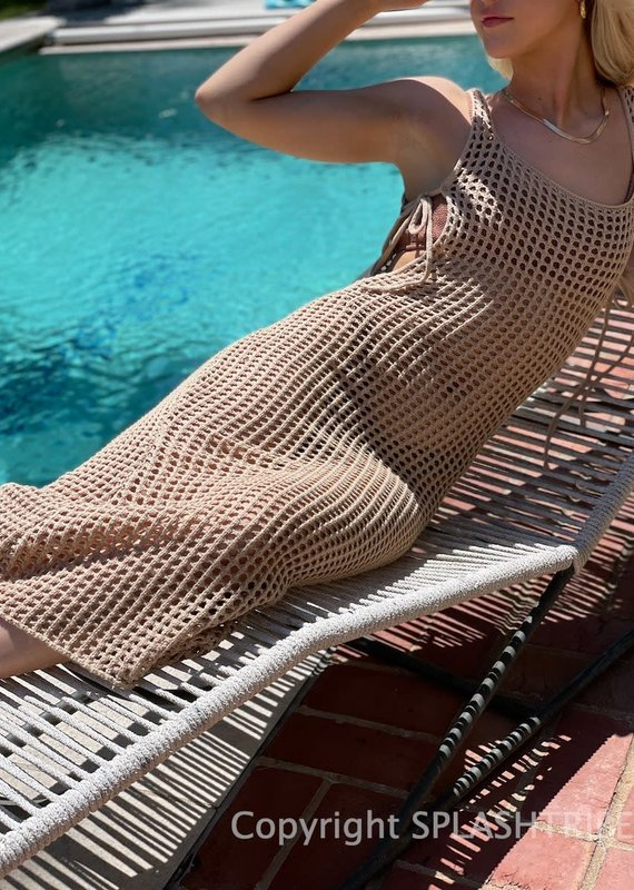Talia Crochet Coverup Midi Dress