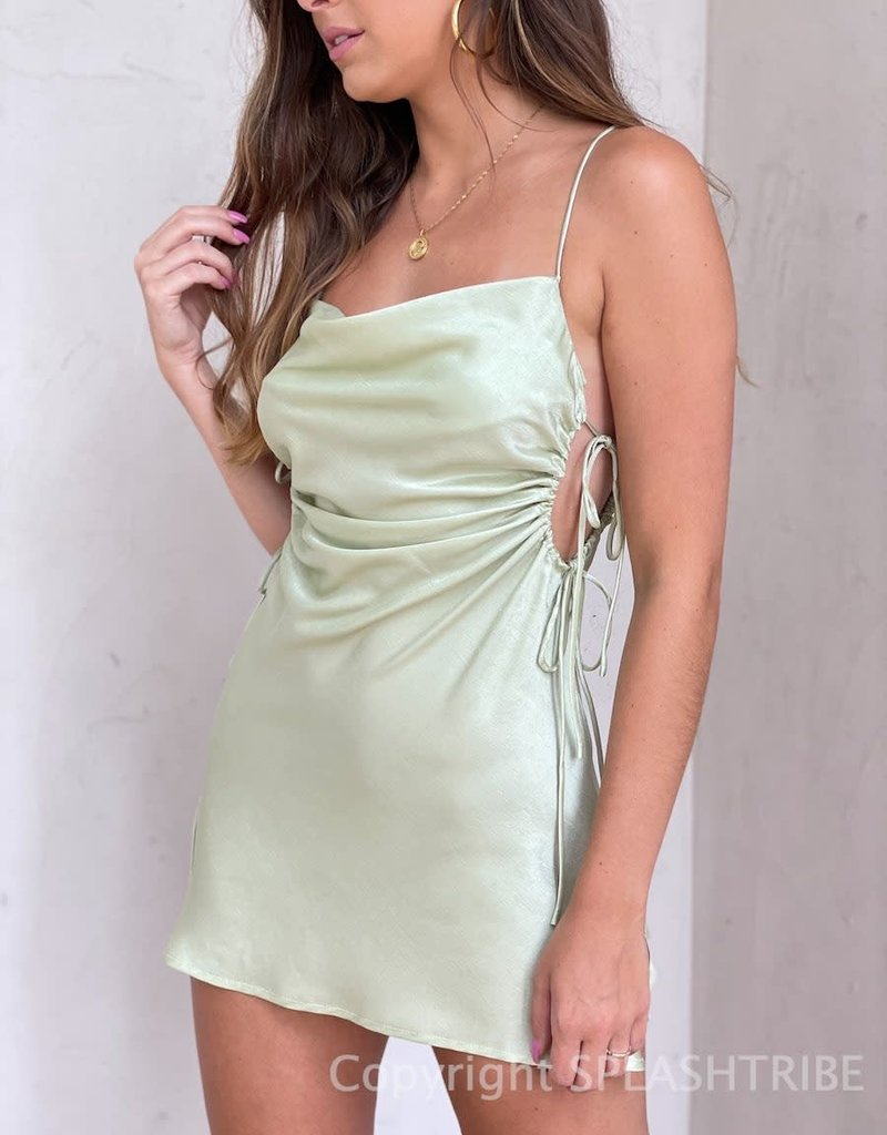 Rory Cut Out Cinched Side Mini Dress