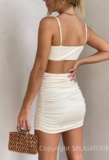 Karlie Cut Out Ruched Mini Dress