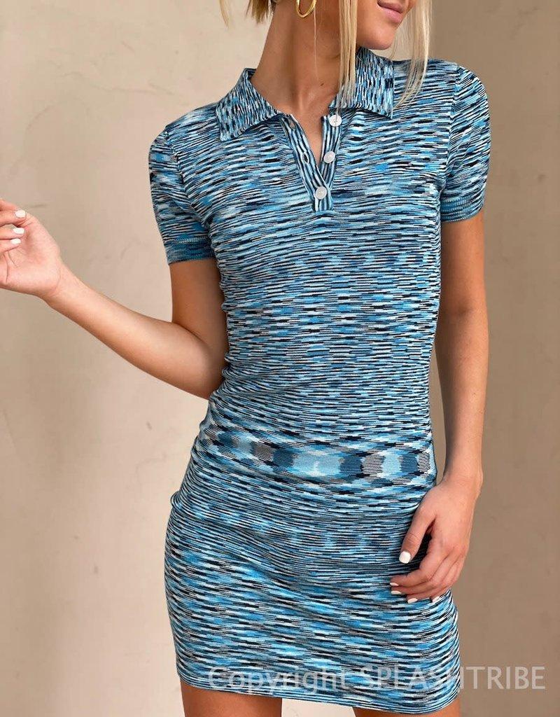 Valerie Space Dye Collared Mini Dress