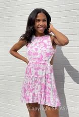 Shay Floral Cross Back Mini Dress