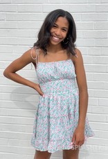 Colleen Floral Tie Strap Mini Dress