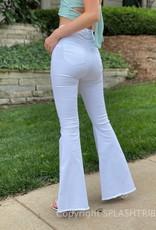 Super Flare White Jeans