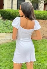 Leyla Double Tie Puff Sleeve Mini Dress