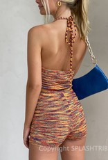 Space Dye Halter Top and Short Set