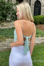 Ribbed Double Knot Front Crop Top