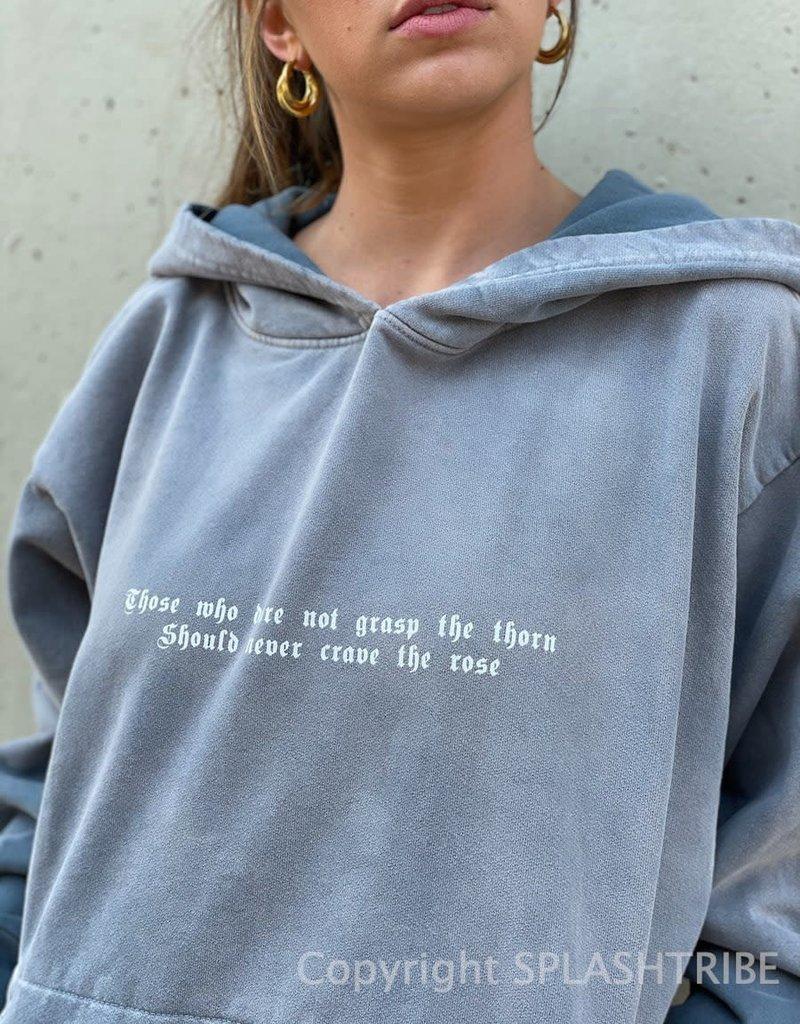 Boys Lie Crave Rose Hoodie Grey O/S