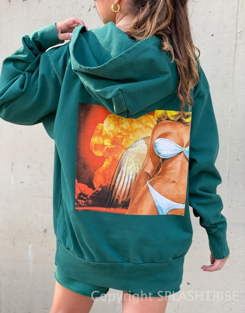 Boys Lie Jumping to Conclusions Hoodie Teal O/S