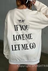 Boys Lie Let Me Go Crewneck Off White O/S