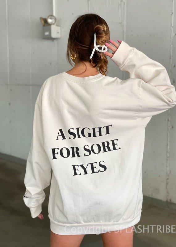 Boys Lie A Sight For Sore Eyes Crewneck Pink O/S