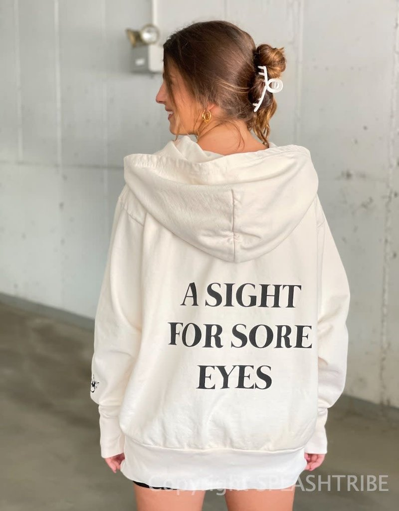 Boys Lie A Sight For Sore Eyes Hoodie Pink O/S