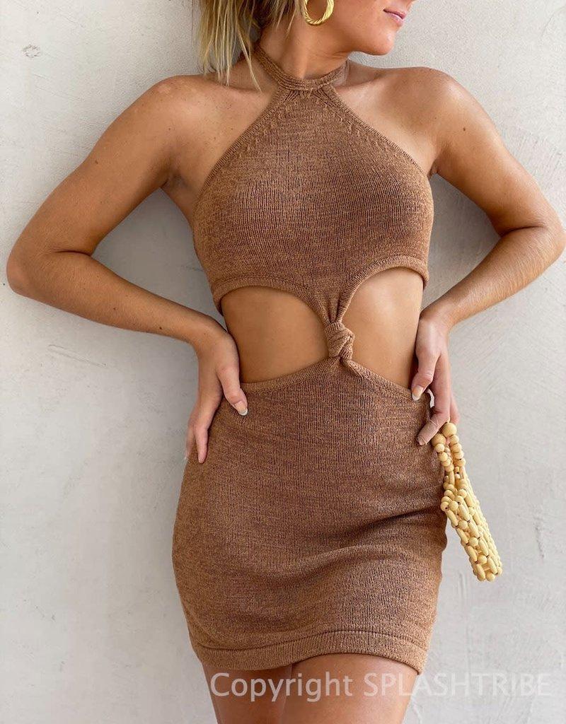 Kourt Knit Cut Out Mini Dress