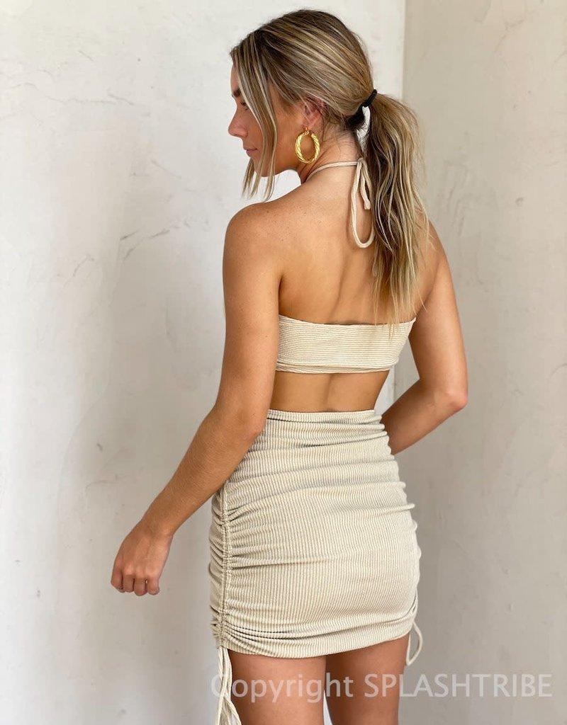 Hayden Ribbed Cutout Mini Dress