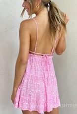 Lola Star Ruffle Trim Cut Out Mini Dress