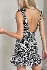 V Neck Tie Strap Ruched Mini Dress