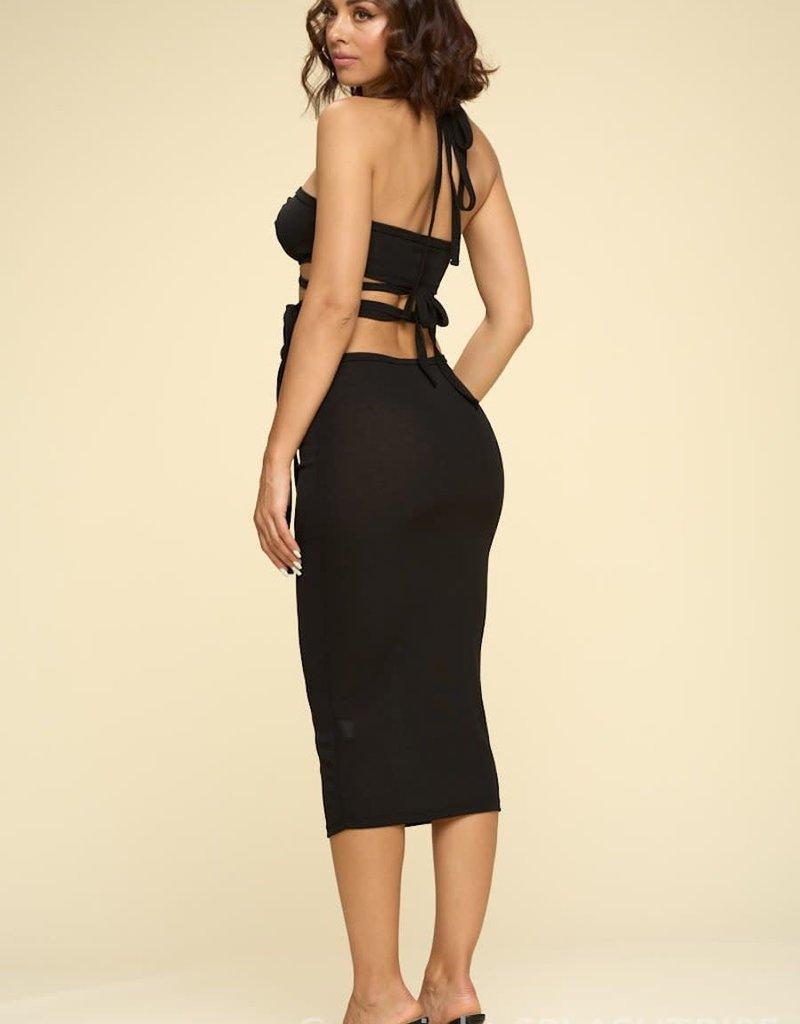 Jordyn Halter Top and Mini Skirt Set