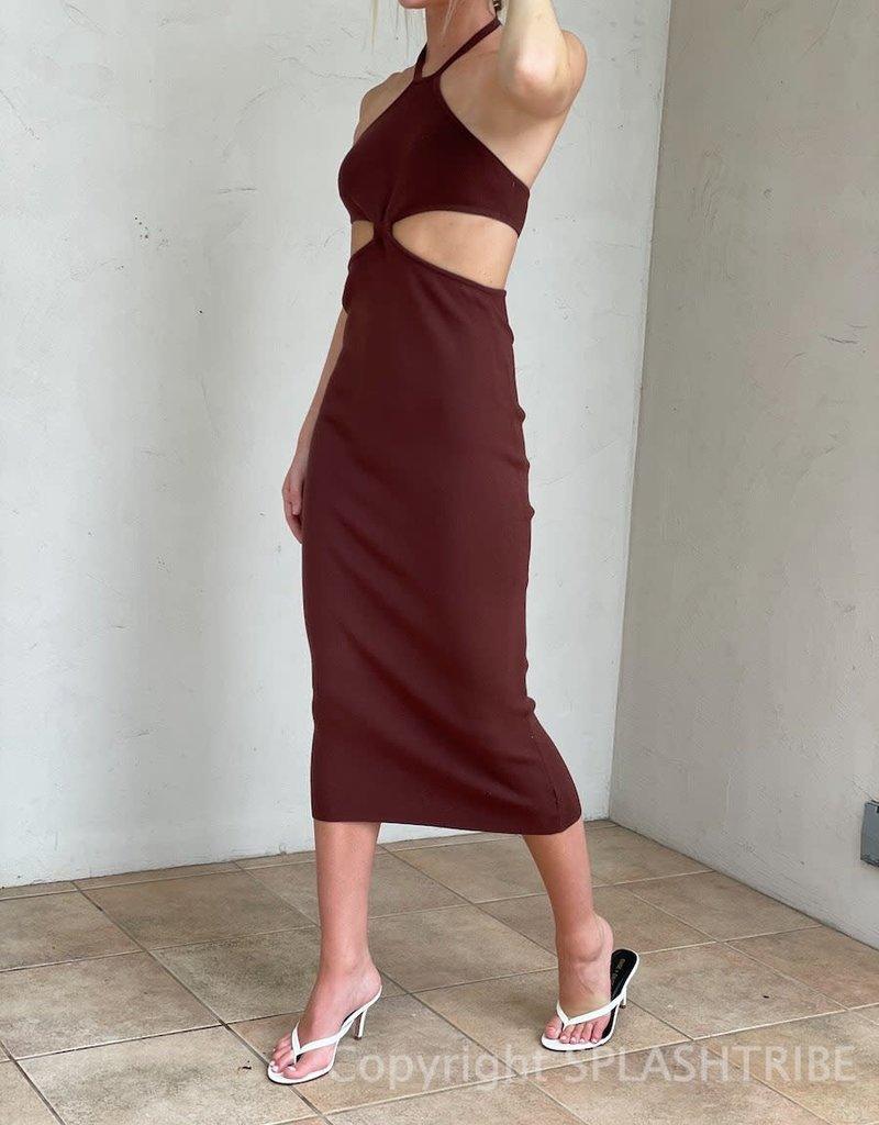 Peppermayo Marguax Knit Midi Dress