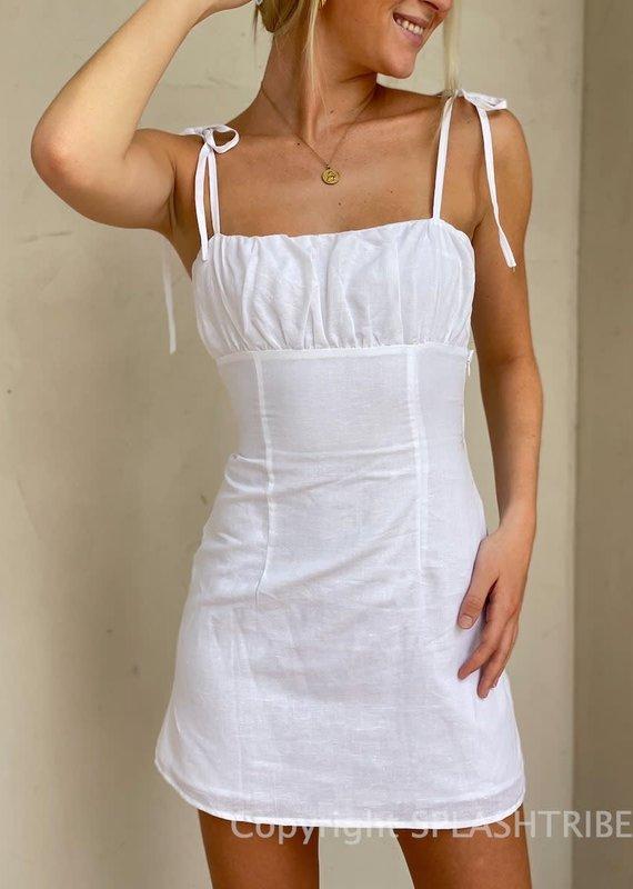 Peppermayo Style File Linen Mini Dress