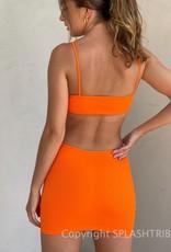 Maddie Ribbed Cutout Mini Dress
