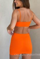 Kiara Ribbed Cutout Mini Dress
