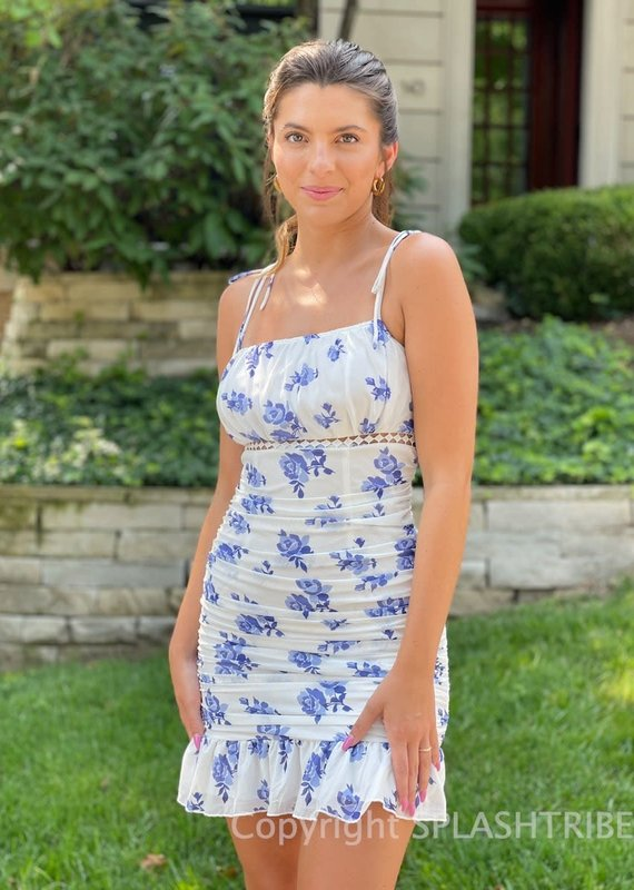 Caroline Floral Mesh Mini Dress