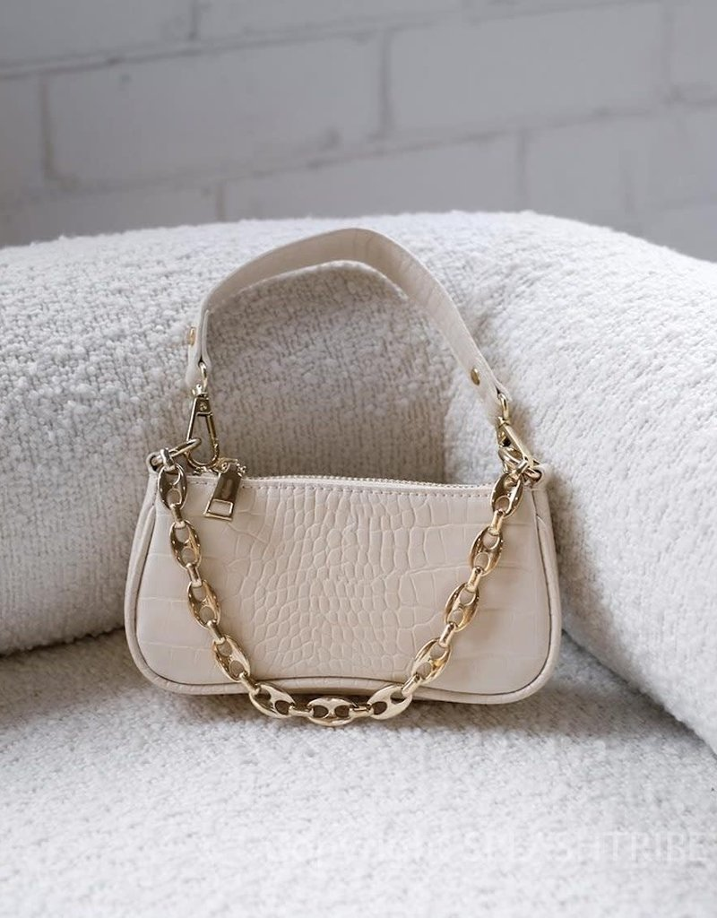 Billini Marnie Shoulder Bag Milk Croc