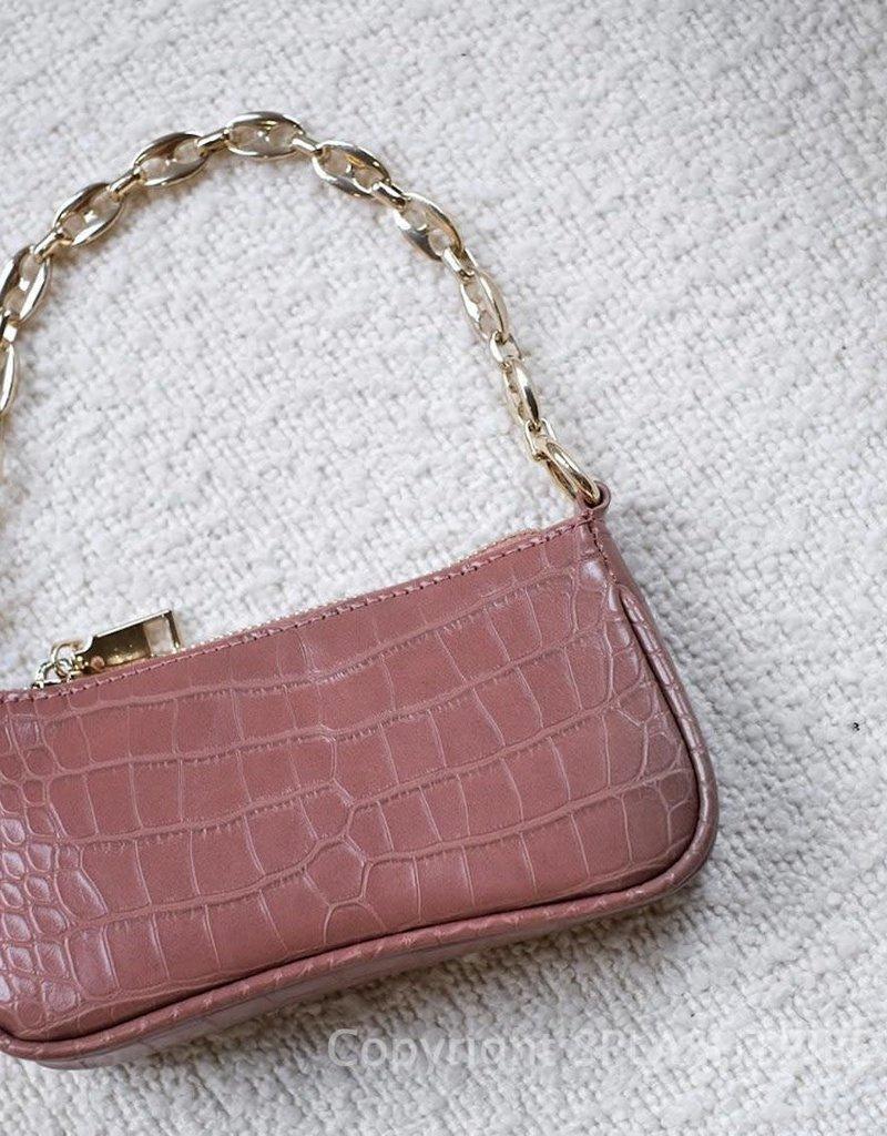 Billini Marnie Shoulder Bag Soft Plum Croc