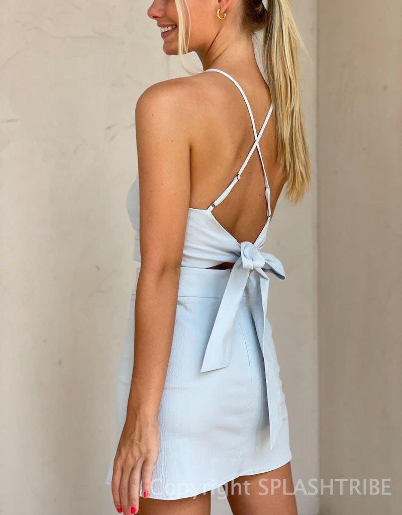 Tie Back Halter Crop Top and Skirt Set