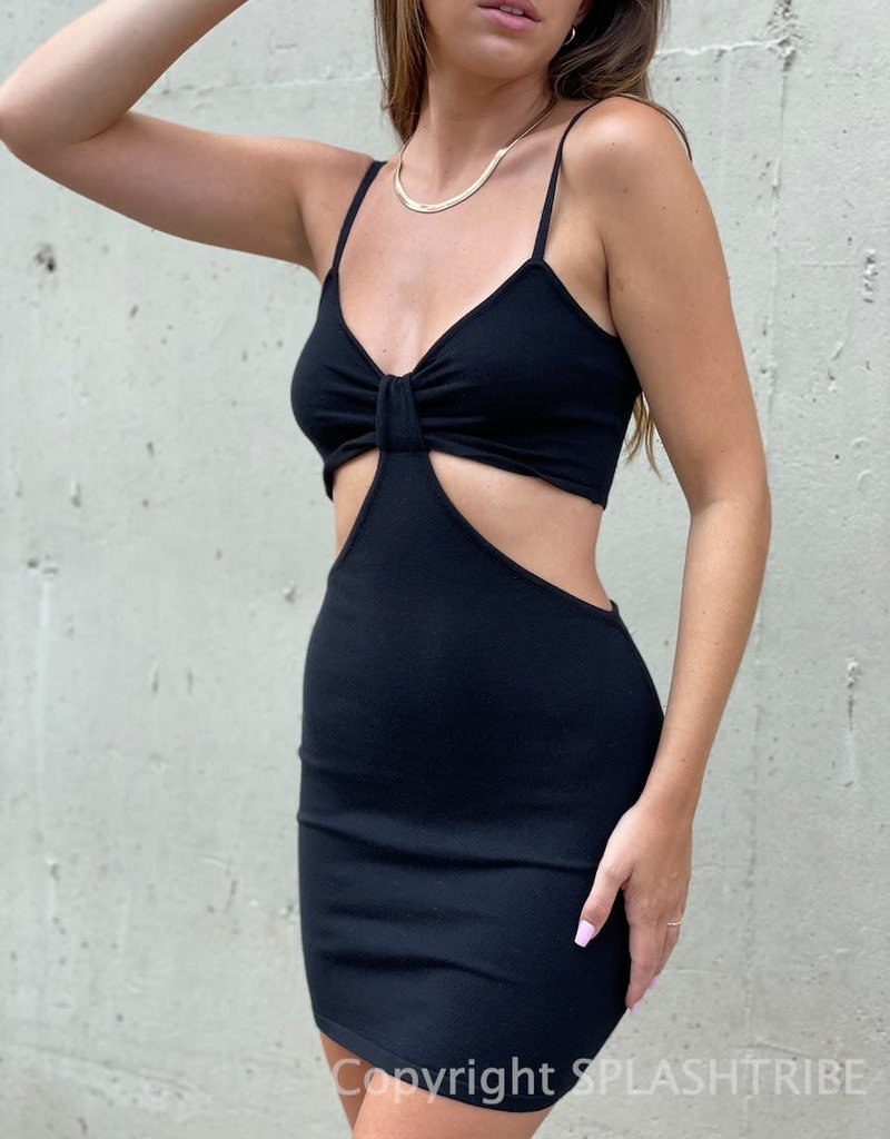 Julie Sweater Knit Cutout Mini Dress