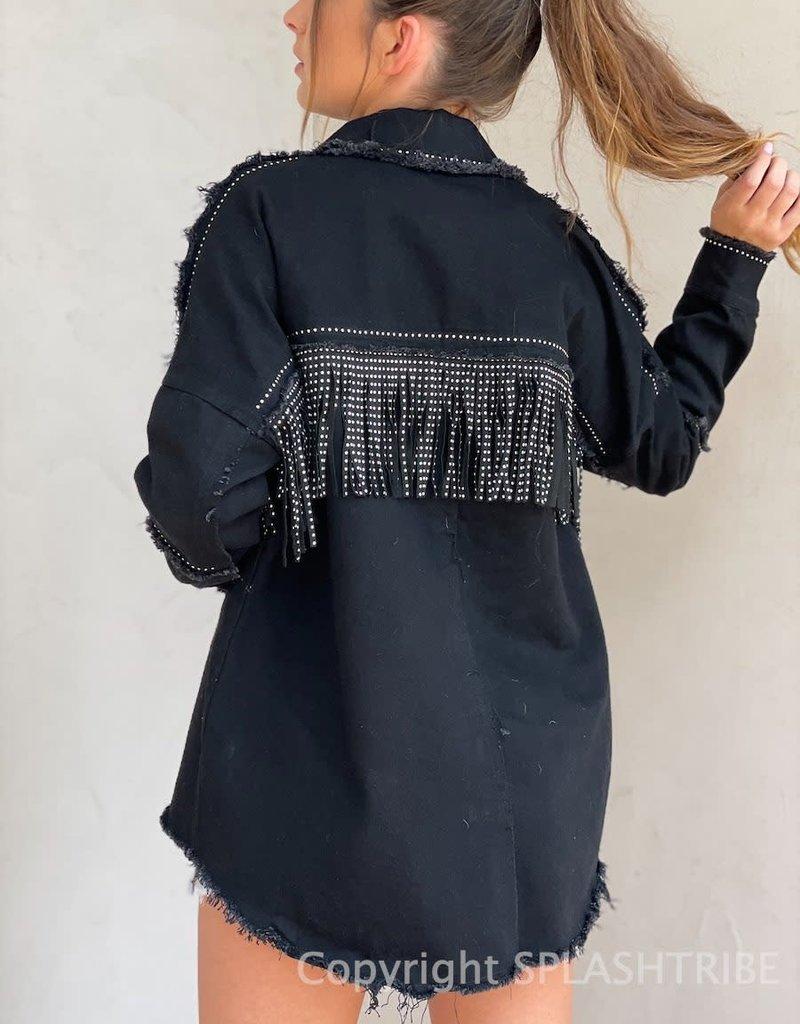Blake Studded Fringe Jacket