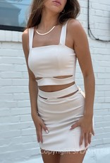 Rachie Cutout Tank and Mini Skirt Set