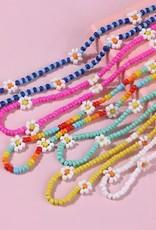 Daisy Beaded Choker Multi Color