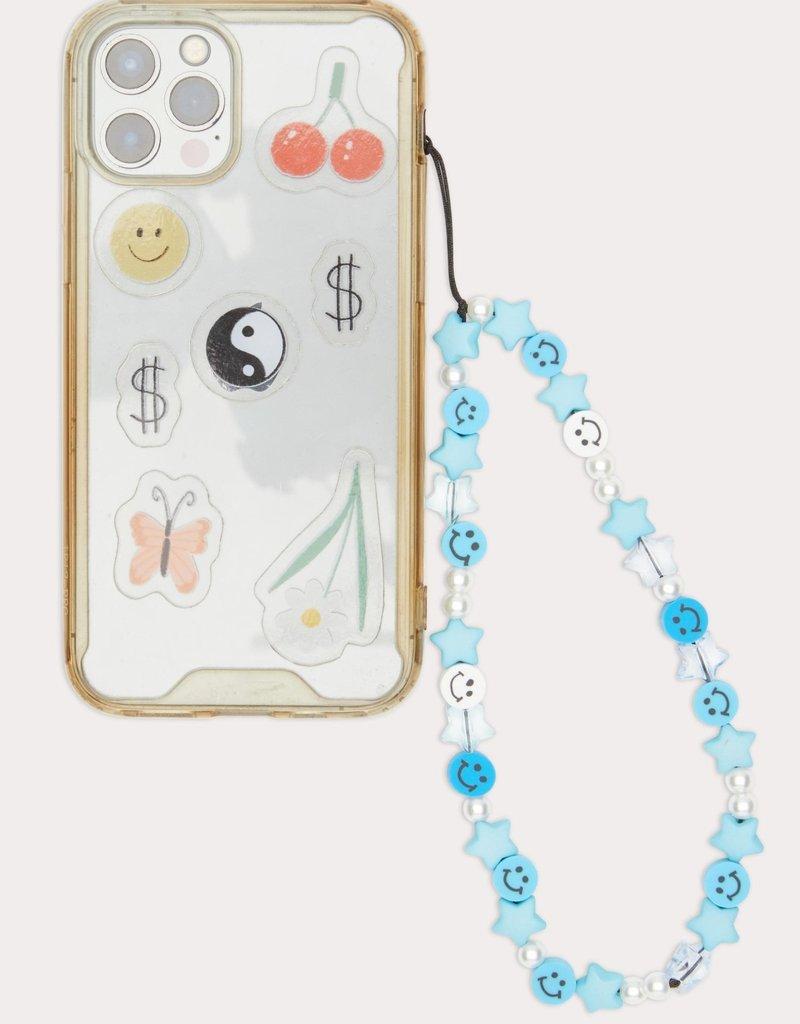 Beaded Phone Strap Blue