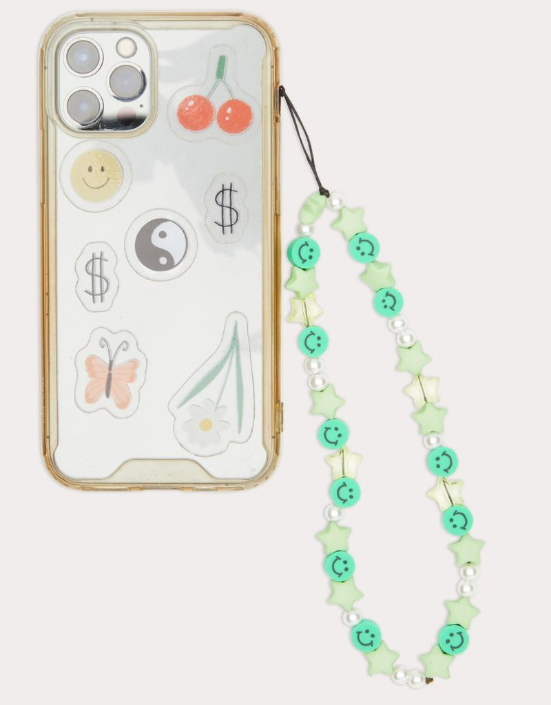 Beaded Phone Strap Green