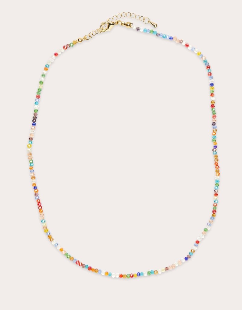 Shimmer Beaded Necklace Multi