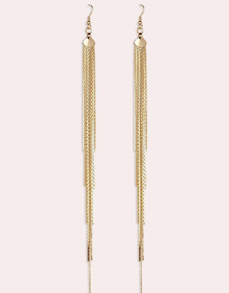 Fringe Earrings Gold