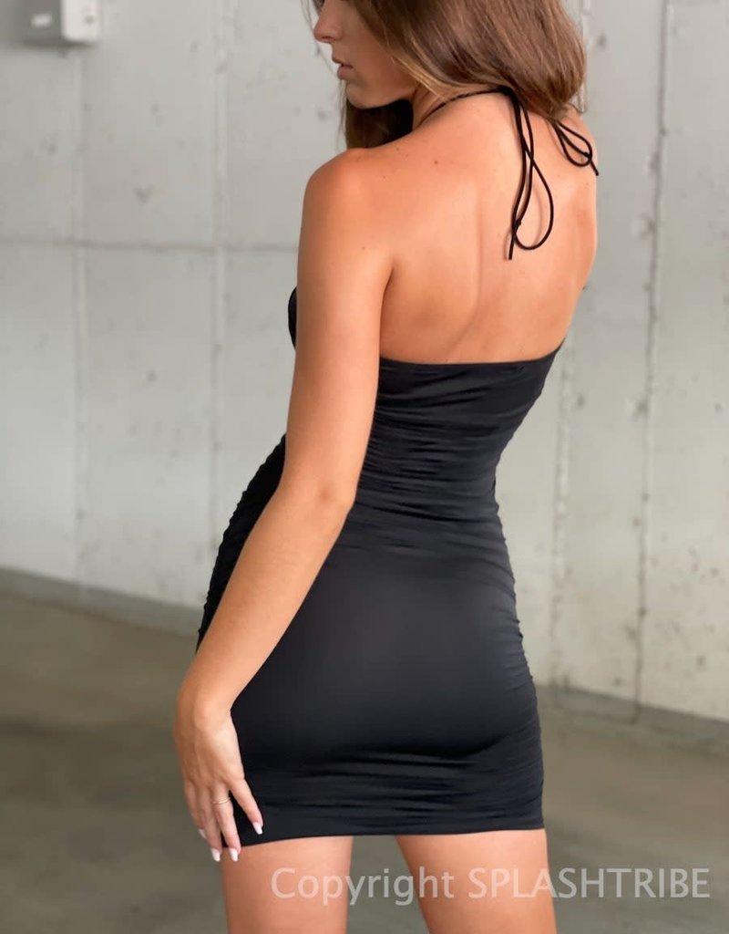 Rhode Halter Cinched Mini Dress